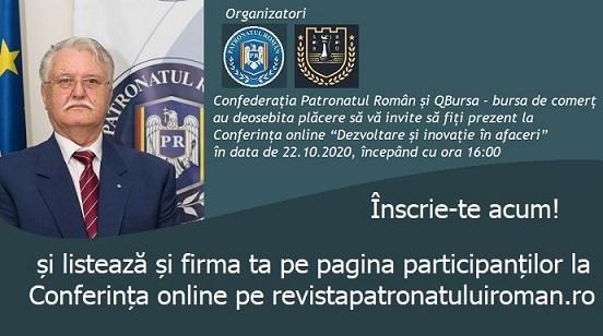 """conferinta online """"Dezvoltare si inovatie in afaceri"""""""